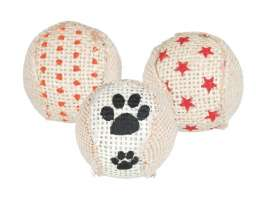 Trixie Set of Rattling Balls, Jute Beige  price