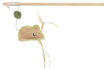 Trixie Playing Rod with Jute Mouse Beige 24 cm