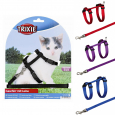 Trixie Kitten Harness with Leash, Nylon 19-31/0.8 cm