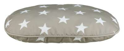 Trixie Stars Cushion, oval 60x40 cm Taupe