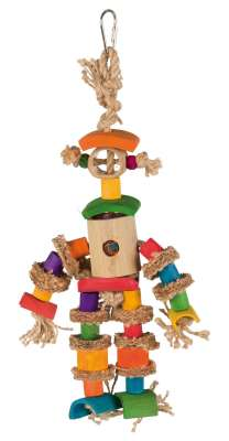 Trixie Natural Toy with Jute Rope Multicolor 25 cm