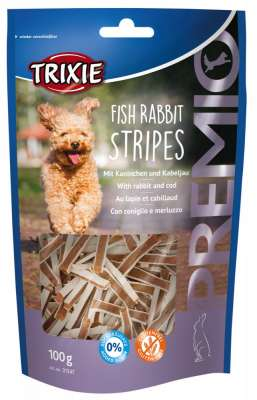 Trixie Premio Fish Rabbit Stripes Konijn & Kabeljauw 100 g
