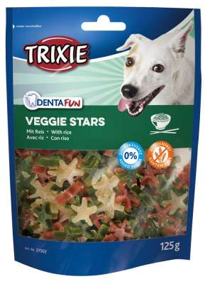Trixie Denta Fun Veggie Stars 125 g Rice