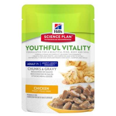 Hill's Science Plan Feline Adult 7+ Youthful Vitality Chicken 85 g