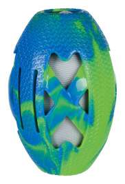 Trixie Rugby Ball, TPR/Fabric, floatable  Rugby Ball, 15 cm