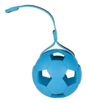 Trixie Perforated Ball on Rope, Natural Rubber 7 cm