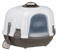 Trixie Maro Corner Litter Tray, with Hood  Dark brown