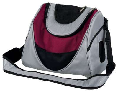 Trixie Mitch Front Carrier, silver/berry 35x28x22 cm