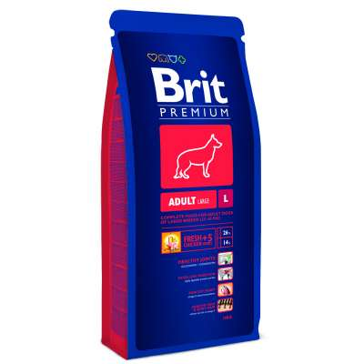 Brit Premium Adult Large  15 kg, 3 kg