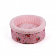 Shabby Chic Round Bed Pink Rosa von All for Paws