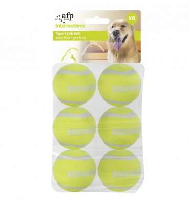 All for Paws Interactives Hyper Fetch Super Bounce Tennis Balls Lime