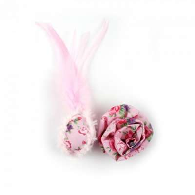 All for Paws Shabby Chic Flower and Feather Balls 12x5x5 cm
