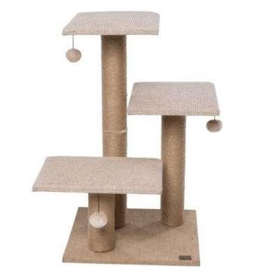 Europet-Bernina Cat Scratching Tree Natural Park Light brown 45x45x75 cm