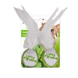 Green Rush Feather Ball All for Paws  0847922024222