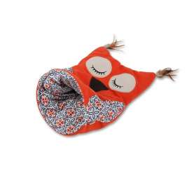 All for Paws Vintage Pet Owl Cat Sack  Neon orange