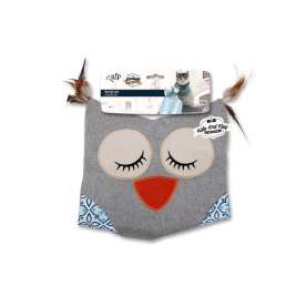 All for Paws Vintage Pet Owl Cat Sack  Light gray