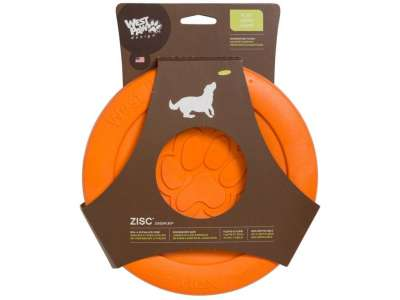 West Paw Zisc Flying Disc Neonoranssi 22 cm