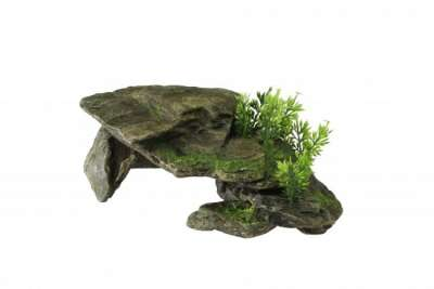 Europet-Bernina Aqua Della Decor-Stone with Plants L 28.5 x 16.5 x 10.5 cm