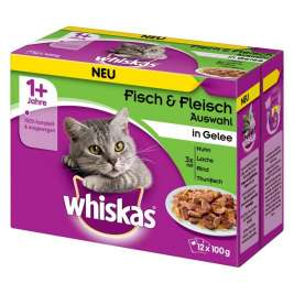 Whiskas Fish & Meat Selection in Jelly 1+  12x100 g