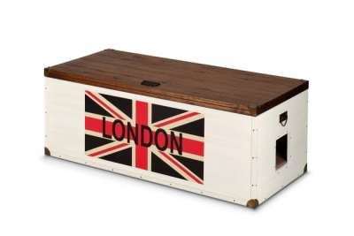 EBI Heartfelt London 120, Traveller chest Milch 120x56x45 cm