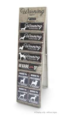 EBI D&D Homecollection Warning Sign Display Wood 160x10x45 cm