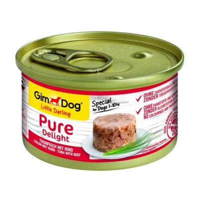 GimDog Little Darling Pure Delight Thunfisch mit Rind  85 g, 150 g
