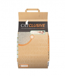 EBI Catclusive Cat Litter with Babypowder Scent  12 kg