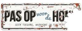 EBI D&D Homecollection Waakbord Beware of the Dog Wit/Blauw nl  Wit