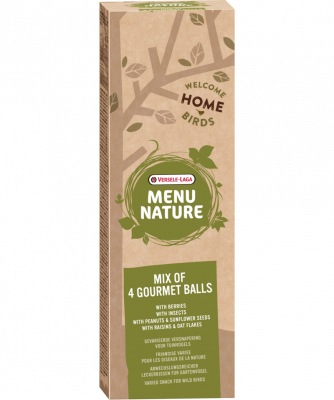 Versele Laga Menu Nature Mix of 4 Gourmet Balls  360 g