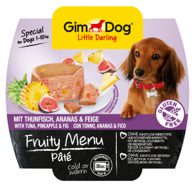 GimDog Fruity Menu Pâté Thon, Ananas et Figue  100 g
