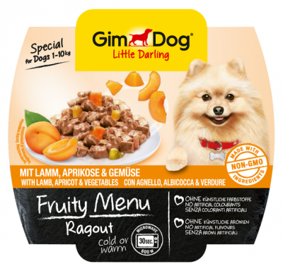 GimDog Fruity Menu Ragout with Lamb, Apricot and Vegetable  100 g