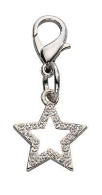 EBI Colgante Lucky Star Czech Crystal Blanco