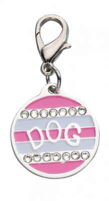 EBI Pendant School Look Swarovski Crystal Hot pink