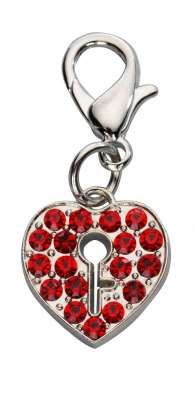 Europet-Bernina Colgante Locked Heart Czech Crystal Rojo