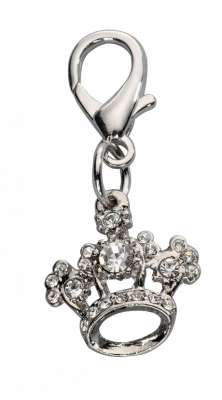EBI Pendant Crown Czech Crystal White