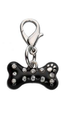 Europet-Bernina Colgante Naughty Bone Czech Crystal Negro