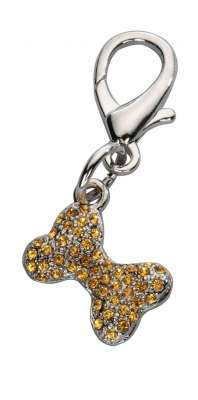 Europet-Bernina Pendentif Bone Czech Crystal-Topaz 2x1.6 cm