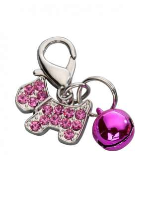 Europet-Bernina Anhänger Happy Dog Czech Crystal Heißes rosa