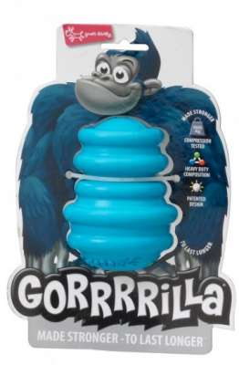 Europet-Bernina Gorrrrilla Classic Rubber Toy Small Hellblau S