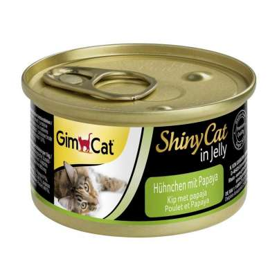 GimCat ShinyCat in Jelly Kip met Papaja 70 g