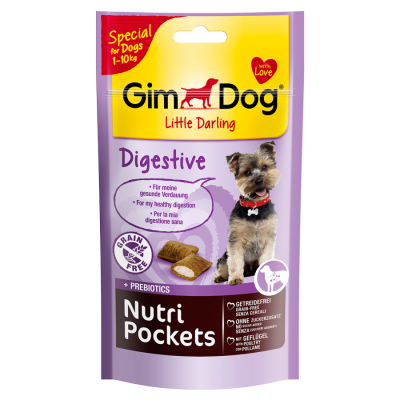 GimDog Little Darling Nutri Pockets Digestive Geflügel 50 g