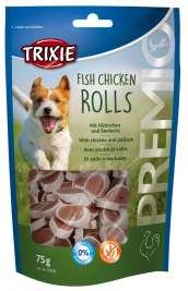 Trixie Premio Fish Chicken Rolls met Kip & Koolvis  75 g