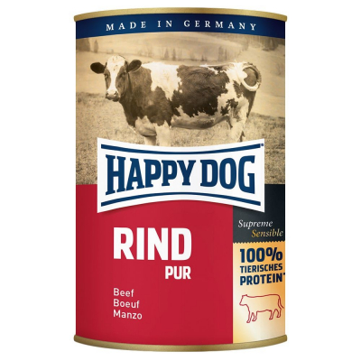 Happy Dog Blikje Rind Pur  800 g, 400 g, 200 g