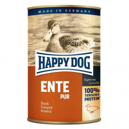 Blikje Eend Puur Happy Dog 4001967062090
