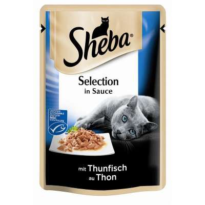 Sheba Selection in Sauce mit Thunfisch (MSC) 85 g, 12x85 g