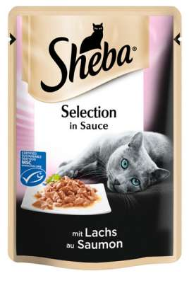 Sheba Portionsbeutel Selection in Sauce mit Lachs (MSC) 85 g, 12x85 g