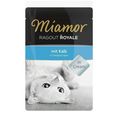 Miamor Ragout Royale Kalb in Tomatencream