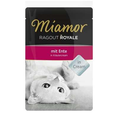 Miamor Ragout Royale Ente in Kräutercream
