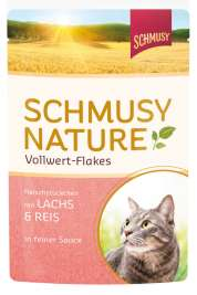 Nature Vollwert Flakes Lachs & Reis Schmusy 4000158700049