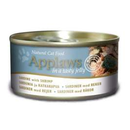 Natural Cat Food Sardine con Gamberetti in Gelatina Applaws 5060333439590